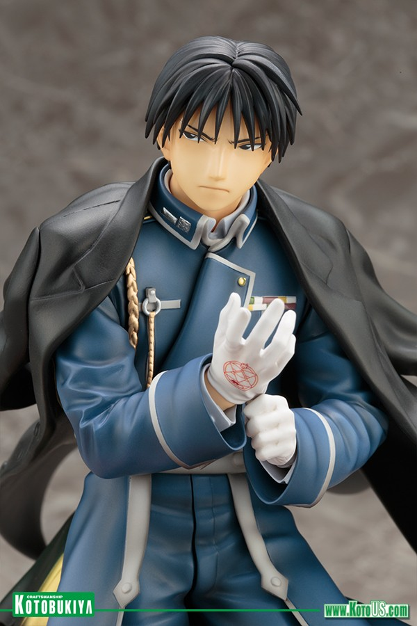 fullmetal alchemist: brotherhood roy mustang artfxj statue | three